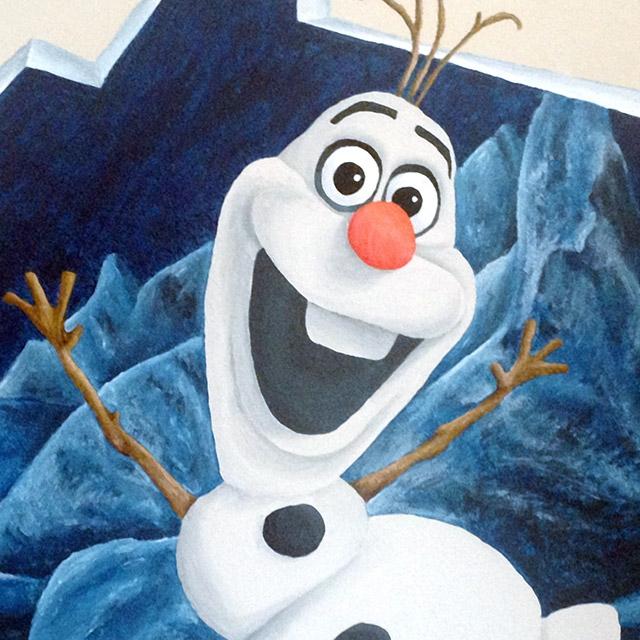 Muurschildering Frozen van Olaf