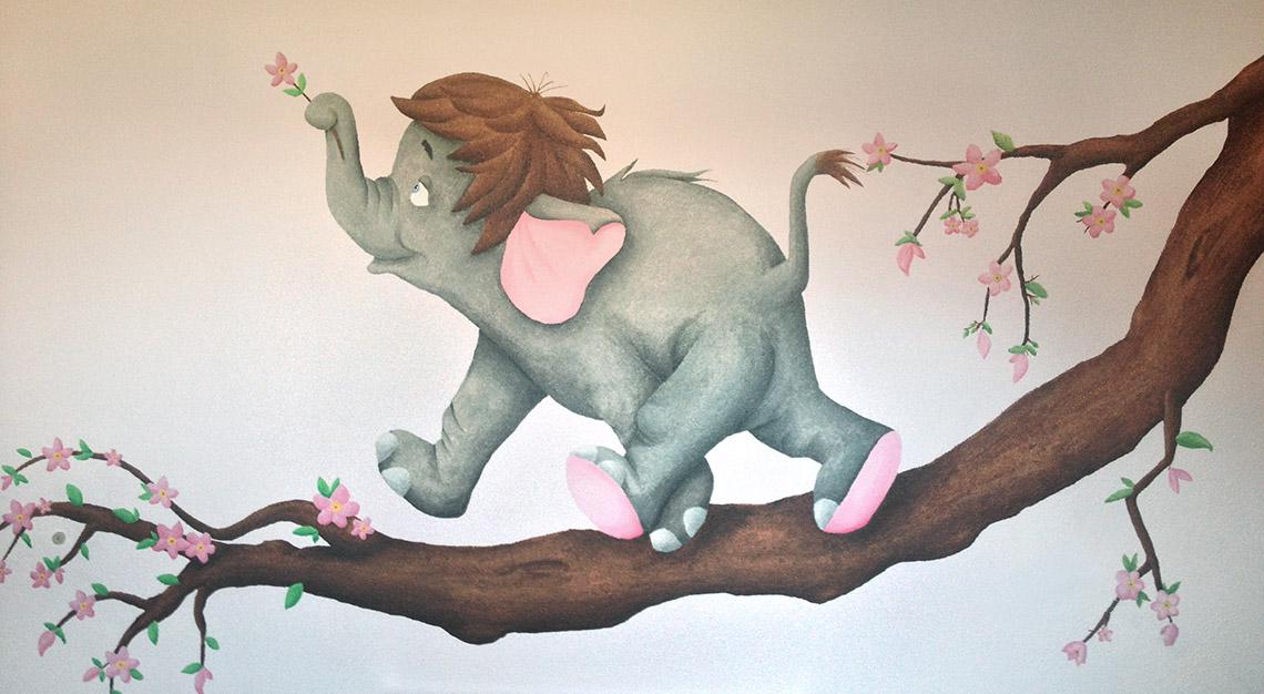 Muurschildering Babykamer Jungle Book